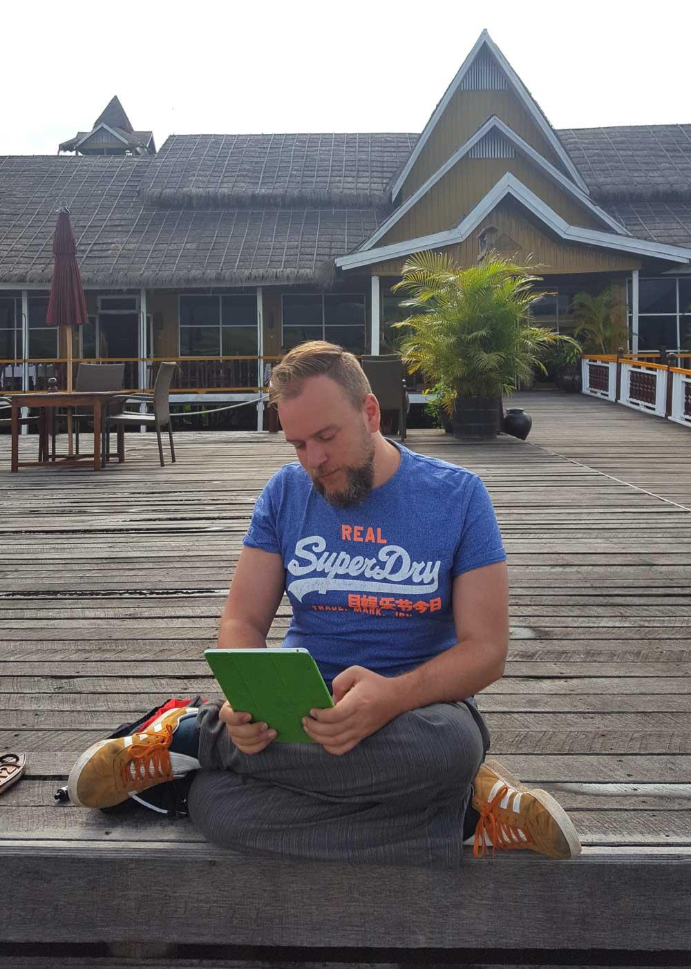 Michael Geyer beim Lesen