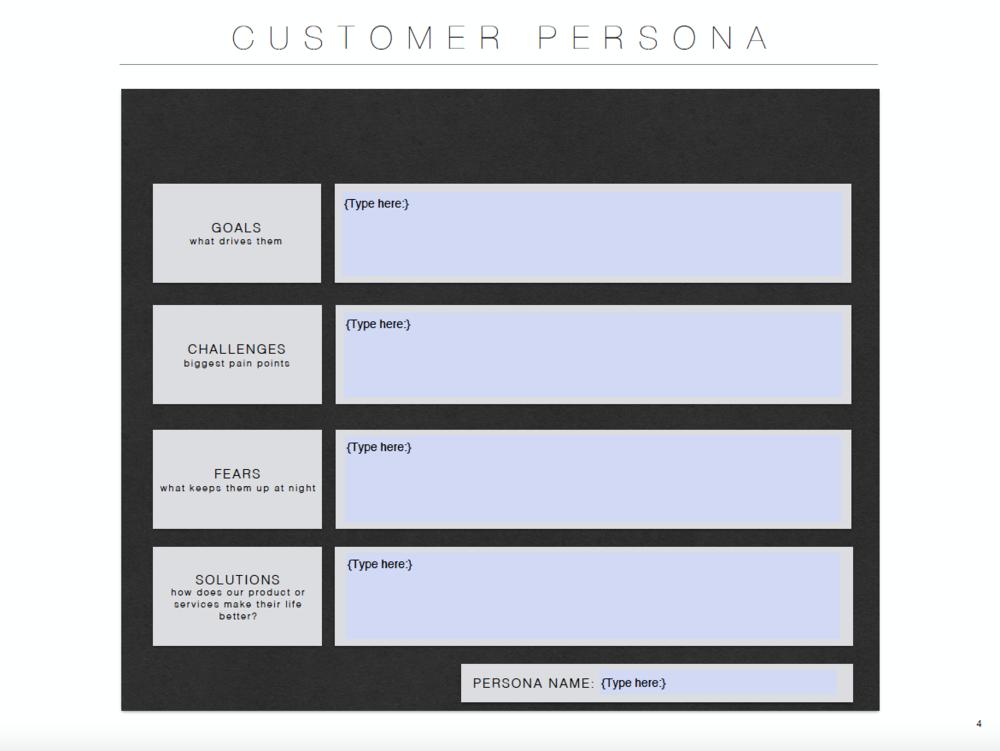 Written & Styled — Free Customer Persona Template