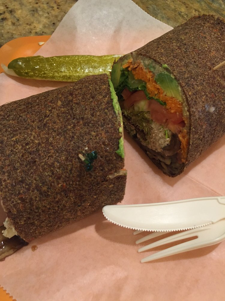 Rainbow Wrap w/ Mock Tuna - Zia's Cafe