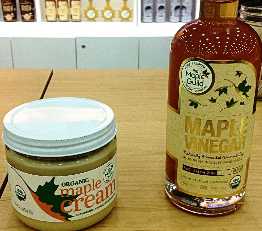 Maple cream & maple vinegar. Even better than they look.