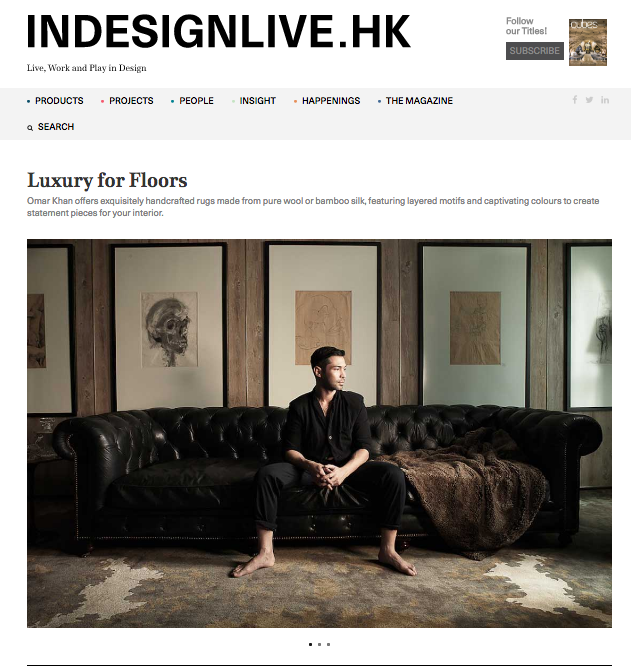 OMAR KHAN RUGS FEATURED IN IN DESIGN LIVE HK