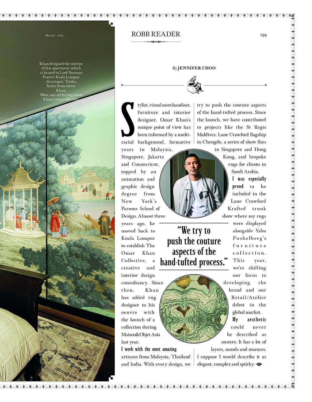OMAR KHAN RUGS FEARTURED IN ROBB REPORT