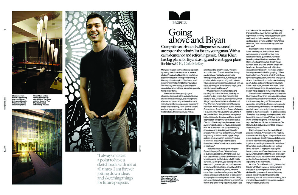 OMAR KHAN RUGS FEATURED IN DAMAN