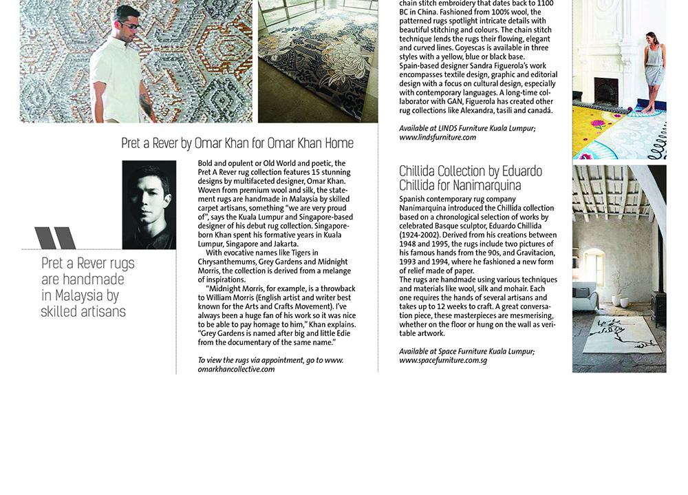 OMAR KHAN RUGS FEATURED IN STAR TWO