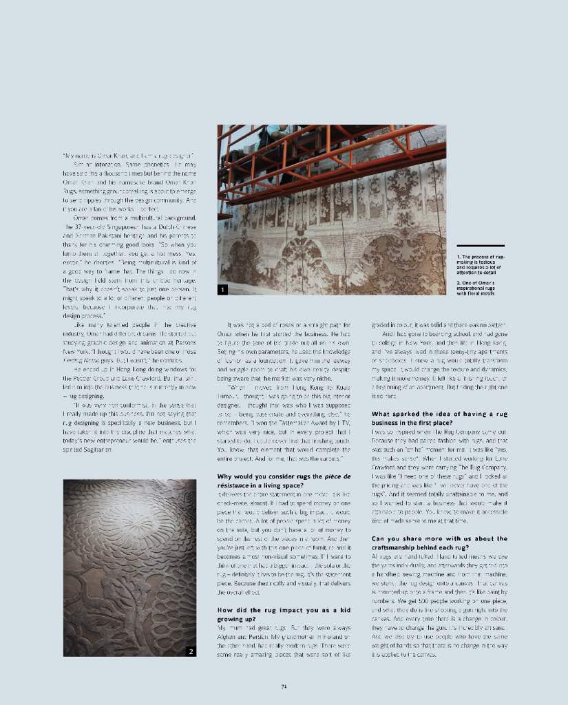 omar khan featured in design and architecture magazine