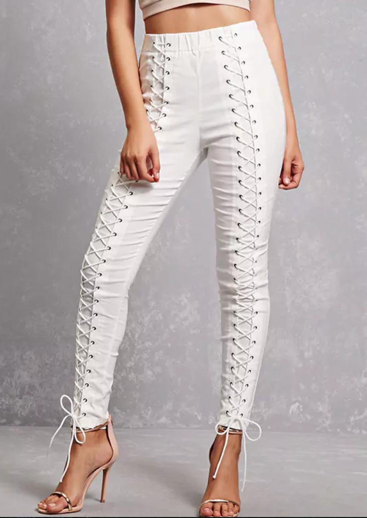 Lace Up Leggings - $29.90