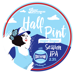 Made in collaboration with Beer Baroness Brewing, Half Pint is a low alcohol beer with peachy, fruit pie aromas.  It has a biscuity and toasty malt body with firm bitterness and good mouthfeel.