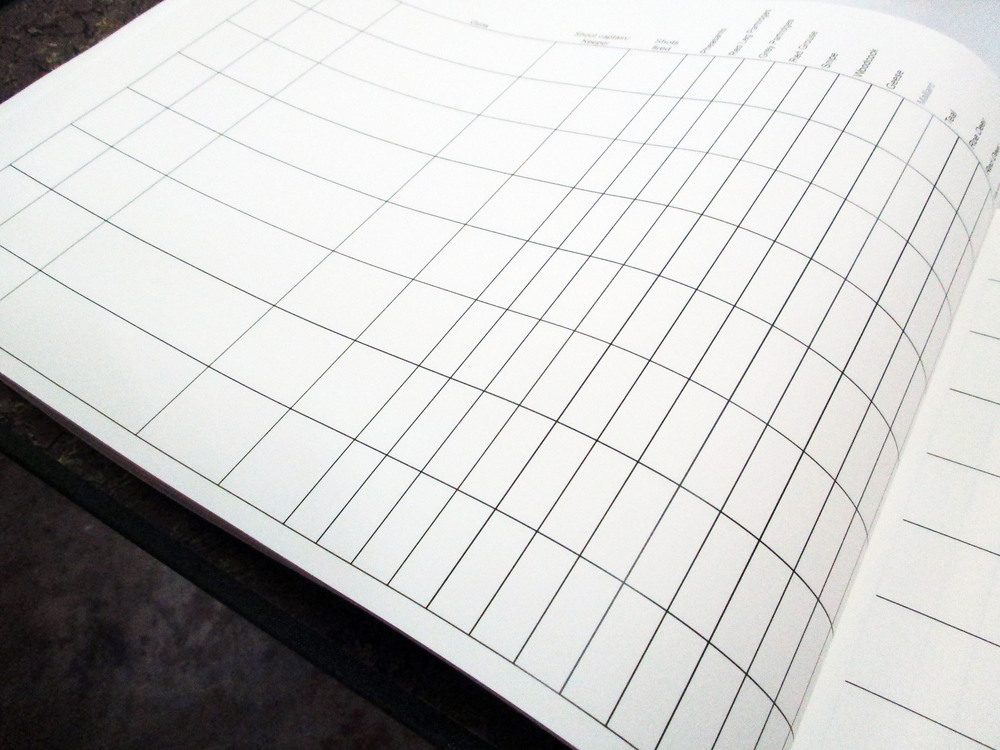Bespoke Visitors' Book internal pages