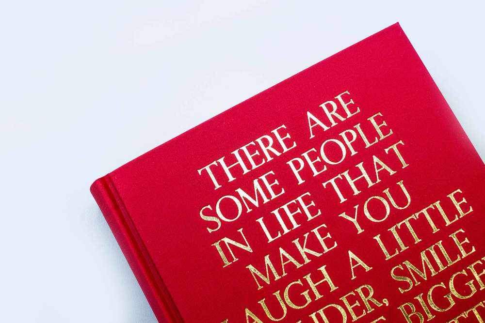 Gold foil stamped book
