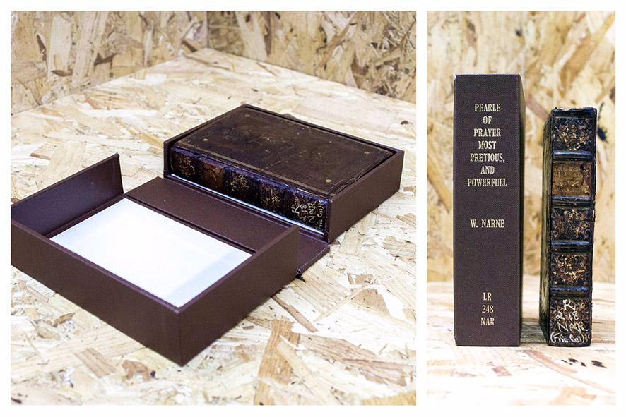 Archival box with matching book