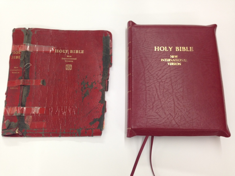 Yap edged bible repair