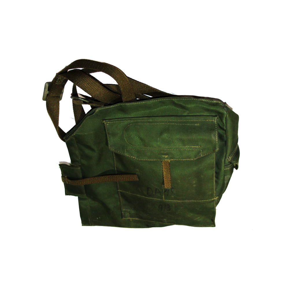 Canadian Army Gas Mask Carrier Bag w/ Strap