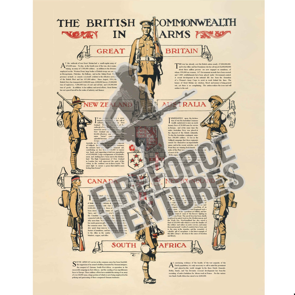British Commonwealth in Arms Poster