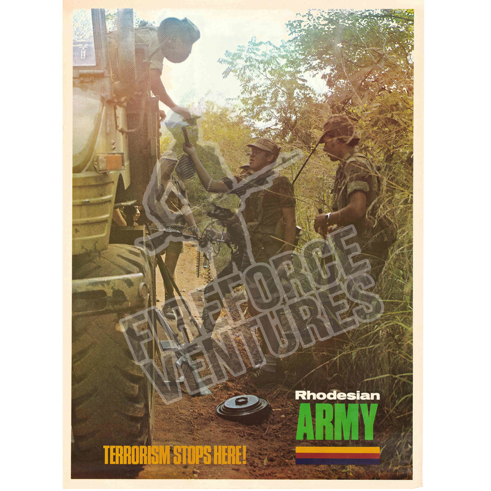 "Rhodesian Army ""Convoy Ops"" Recruitment Poster"