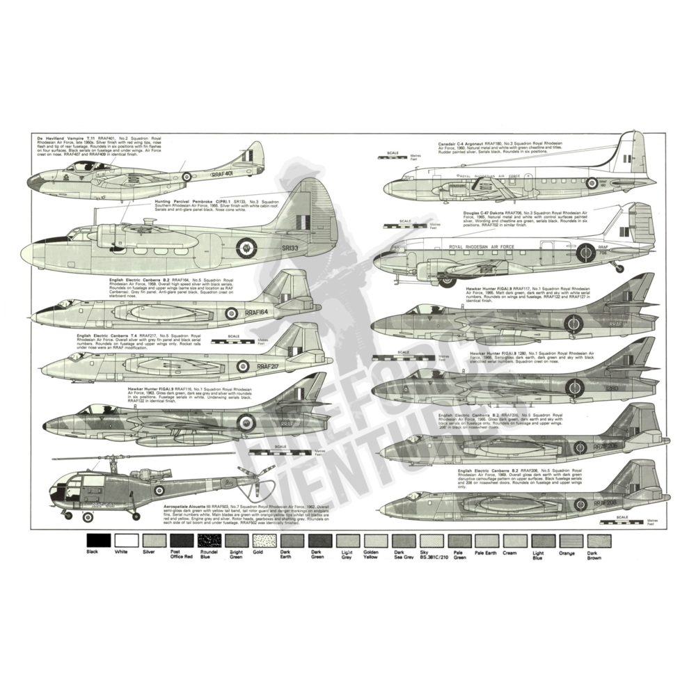 Rhodesian Air Force Profile Poster - A