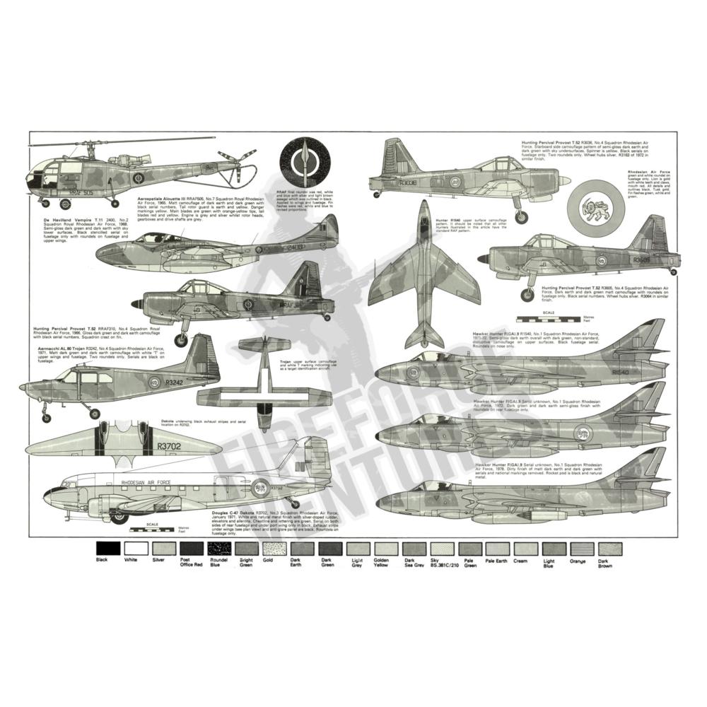Rhodesian Air Force Profile Poster - B