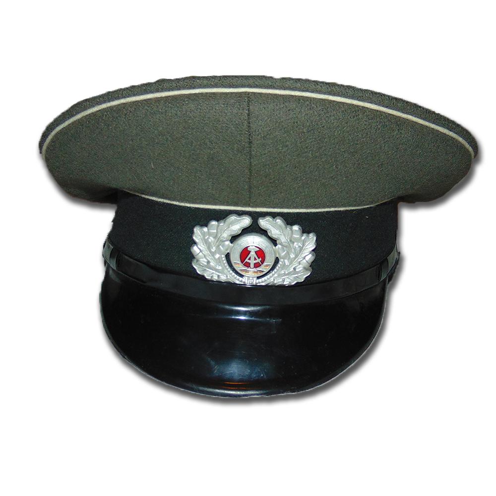 0b51d5a74e6 East German Army Officer Visor Hat