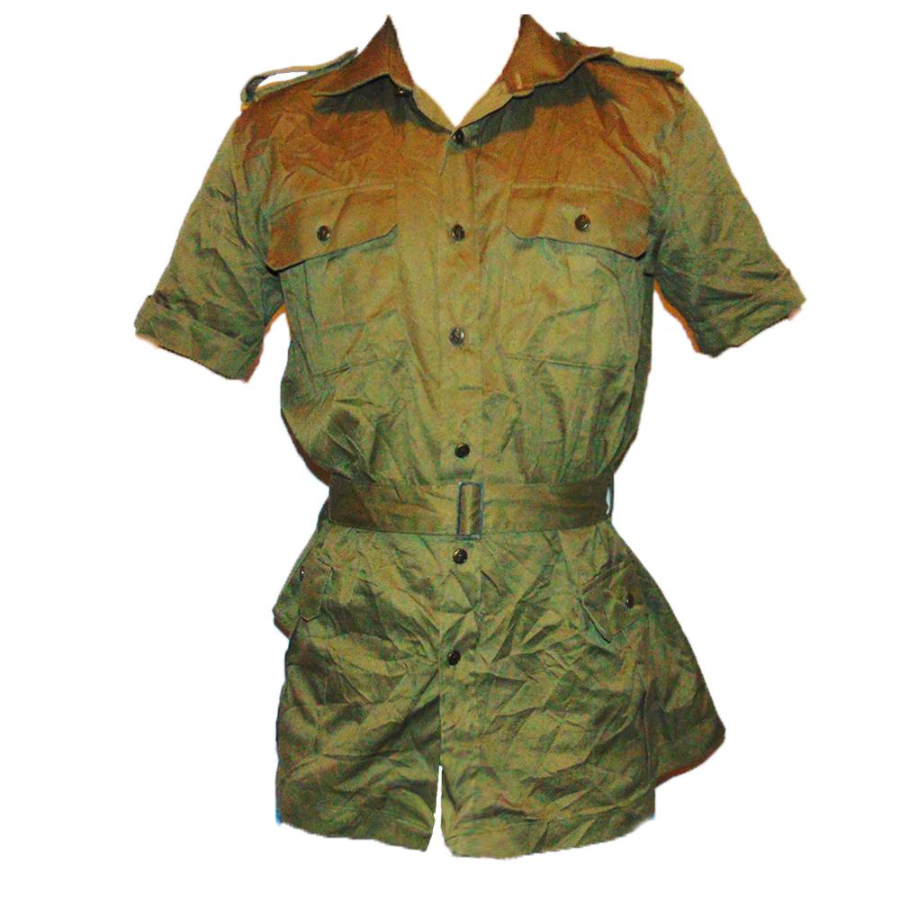 Italian Army Short Sleeve Safari Shirt