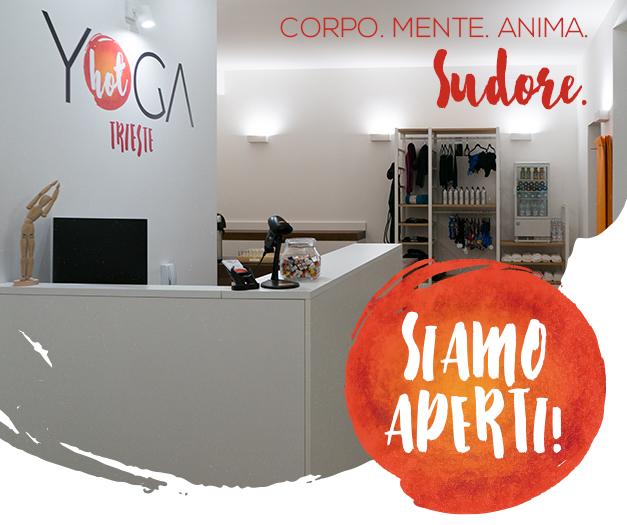 Yoga studio reception in trieste