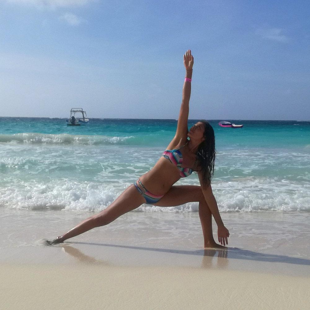 Cecilia triangle yoga