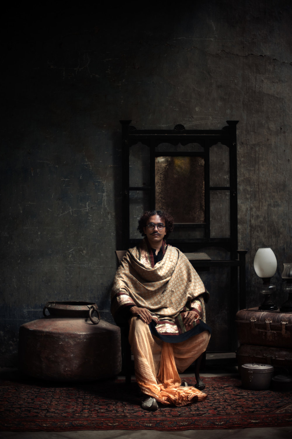1_Chhandak Pradhan-fashion-Ruins and a Requiem-vintage_feudal_Indian_royal_portrait.jpg