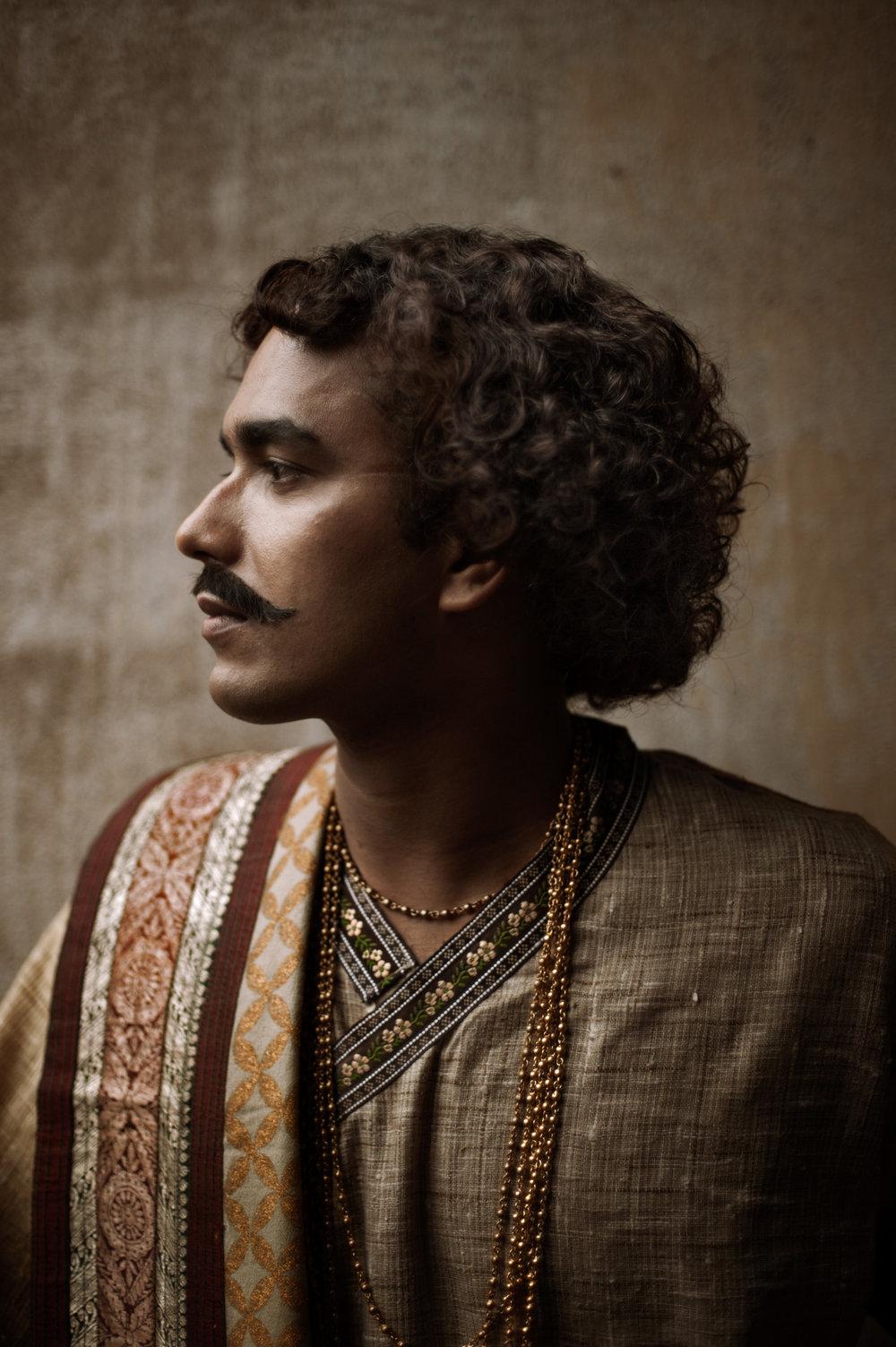 4_Chhandak Pradhan-fashion-Ruins and a Requiem-vintage_feudal_Indian_royal_portrait.jpg