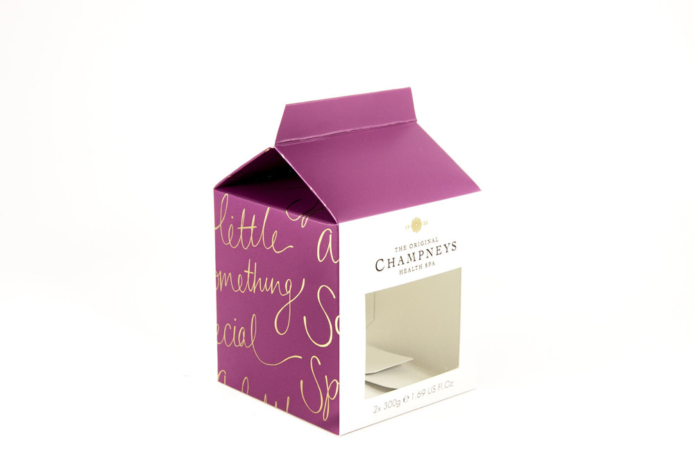 Pillbox Design – Bespoke structural carton packaging prototype of Champneys Health Spa