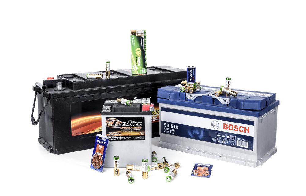 Batterier från Batterilagret