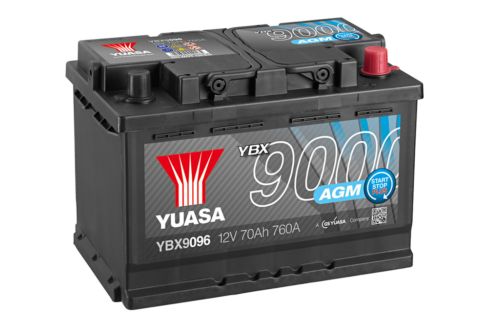 Ett AGM-batteri från Yuasa