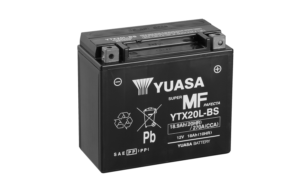 YTX20L-BS ett skoterbatteri från Yuasa