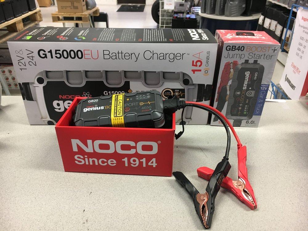 Batteriladdare och startbooster för skoter