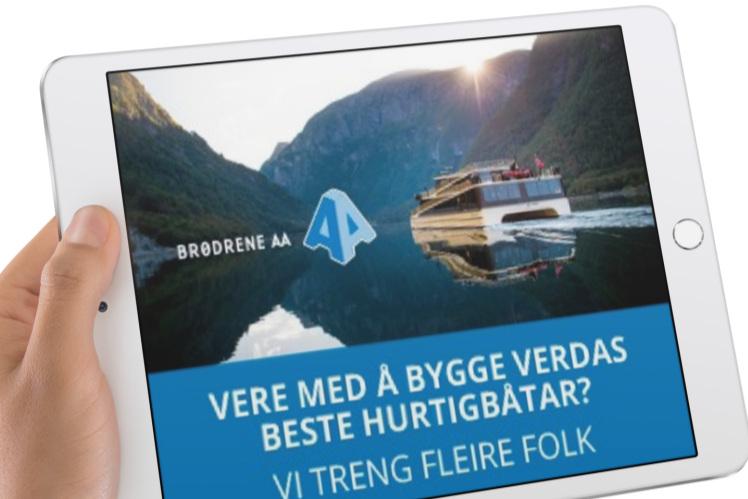 Rekrutteringskampanje - Brødrene Aa er i kraftig vekst og treng folk. Vi jobbar med www.braa.no/career, lager annonsar, bannerannonsar og opplegg for søknadshandtering.