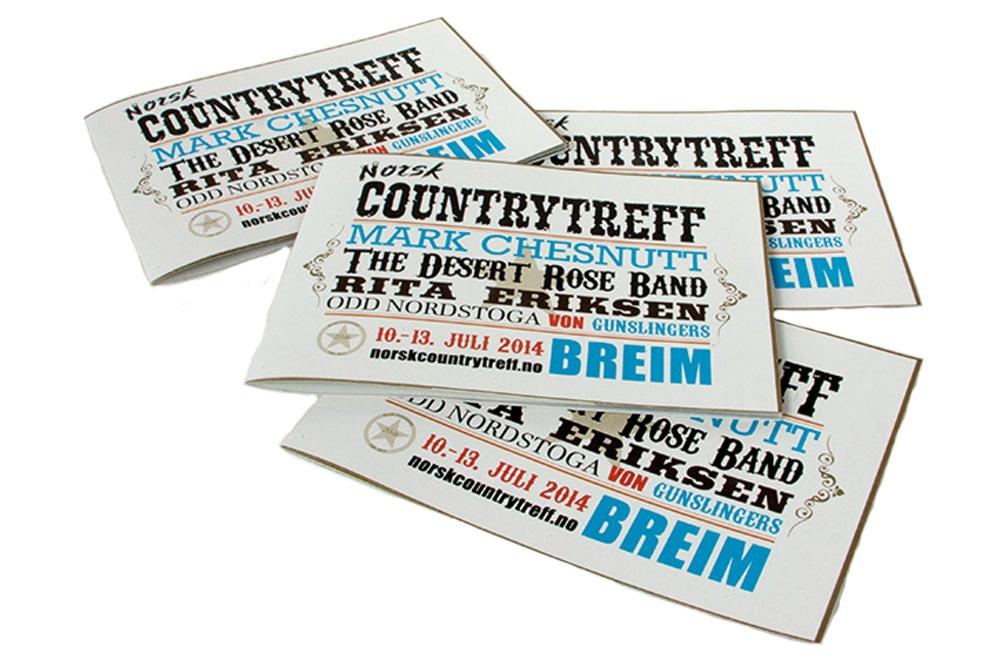 Trykt materiell - Vi har produsert festivalbrosjyre og diverse anna trykt materiell. Alt i same profil og med same papir.