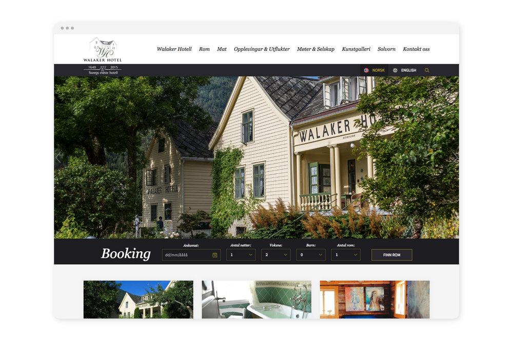 Nye nettsider - Dei nye nettsidene er basert på publiseringsverktøyet Squarespace, har sterk fokus på booking og er enkle for kunden å oppdatere.