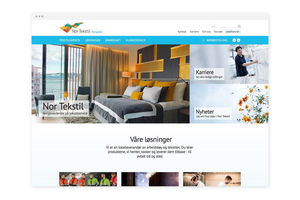 Nettside basert på Squarespace - Forrige generasjon nettsider var også basert på publiseringsverktøyet Squarespace. Nor Tekstil sitt kundesenter har dyktige folk som etter kort opplæring på 2-3 timar tok verktøyet i bruk.Les også: -Squarespace vs WordPress - kva er forskjellen?