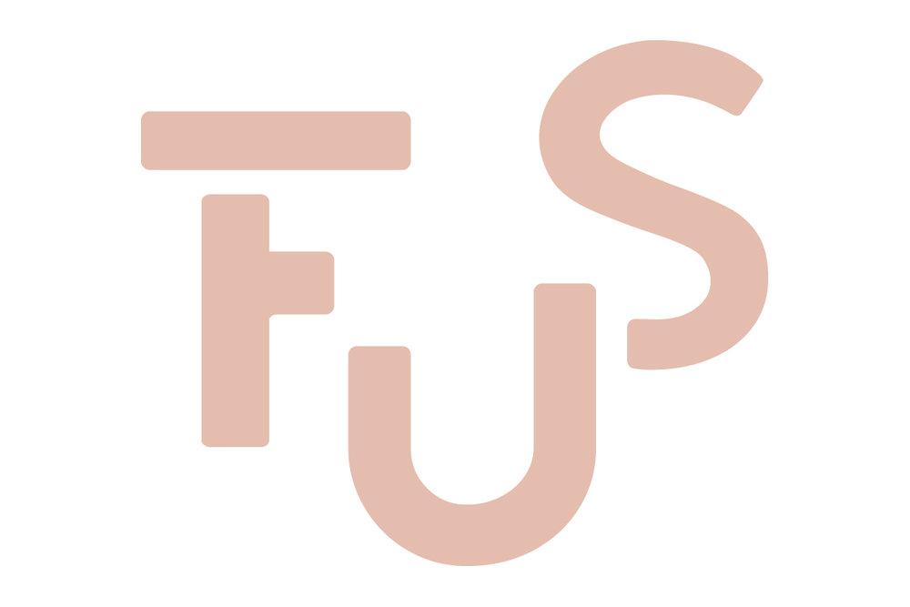 FUS-logo - I prosjektet har også designer Hilde Nes Lægreid utvikla logo og grafisk profil for FUS. Er du gründer og interessert i å leige lokale og bli med i FUS-fellesskapet på Campus Sogndal?