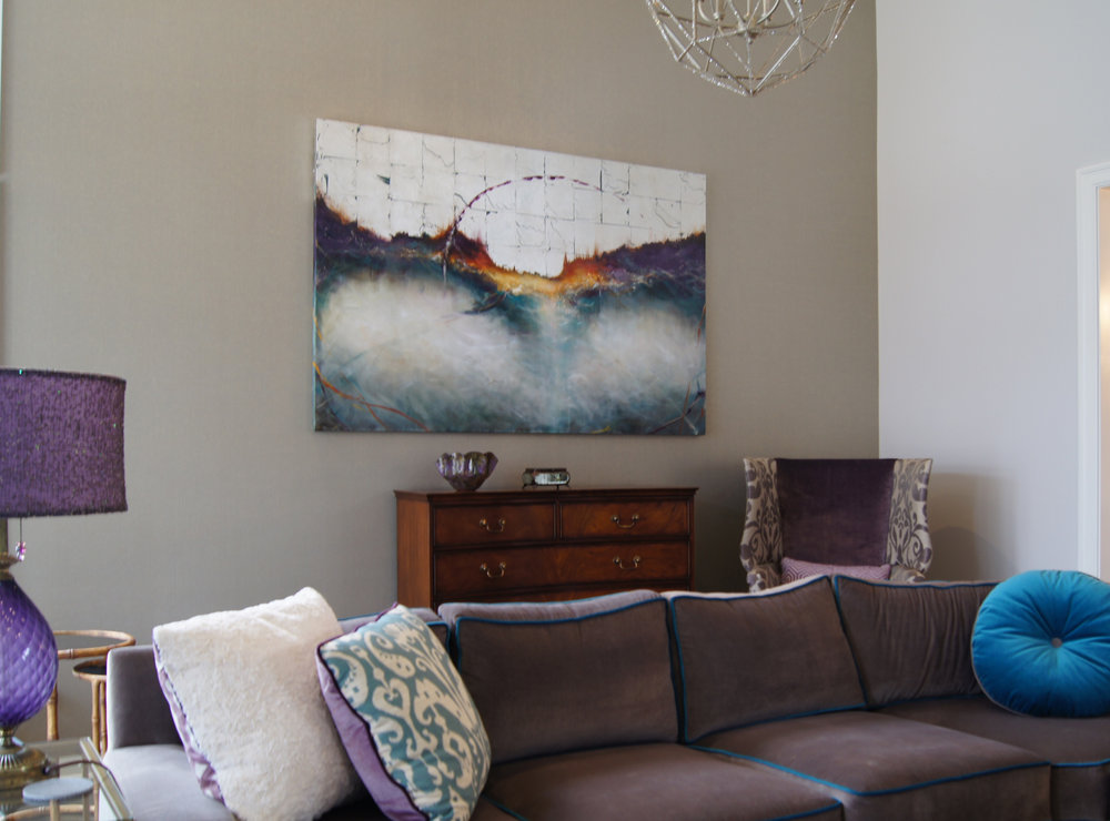 Turquoise Wave 48x72 commission-private collection, Victor, NY