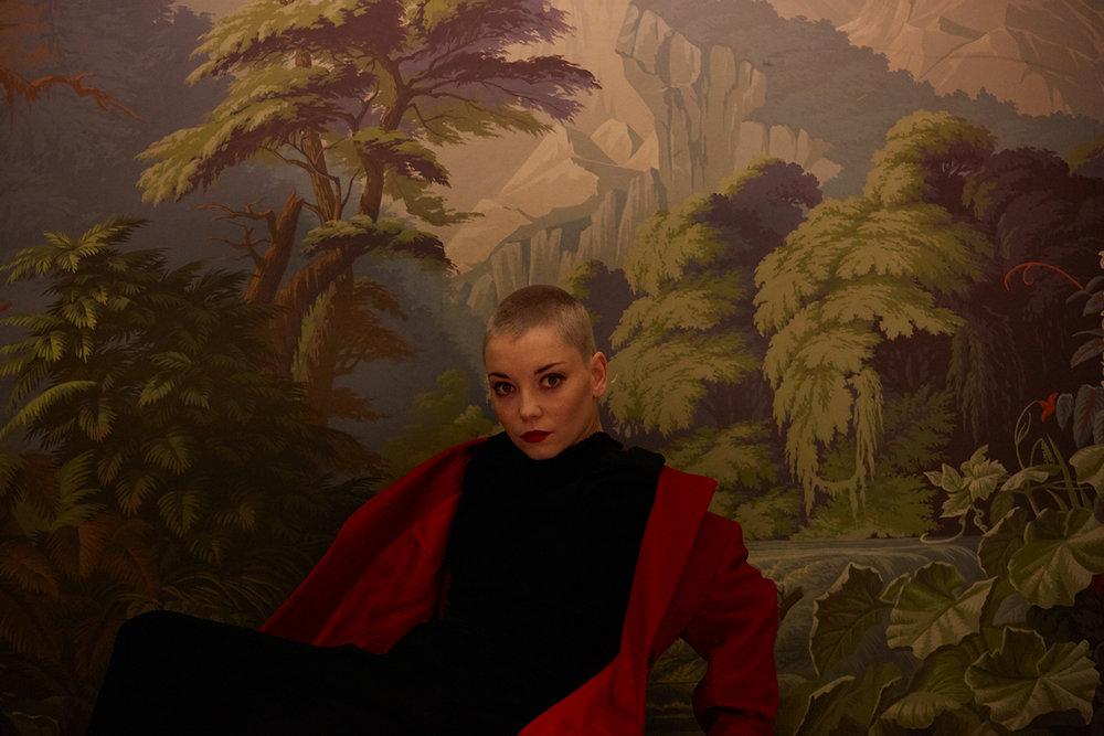 portraits of actress Marama Corlett, London - ARTIST PORTRAITS, JANUARY 2018