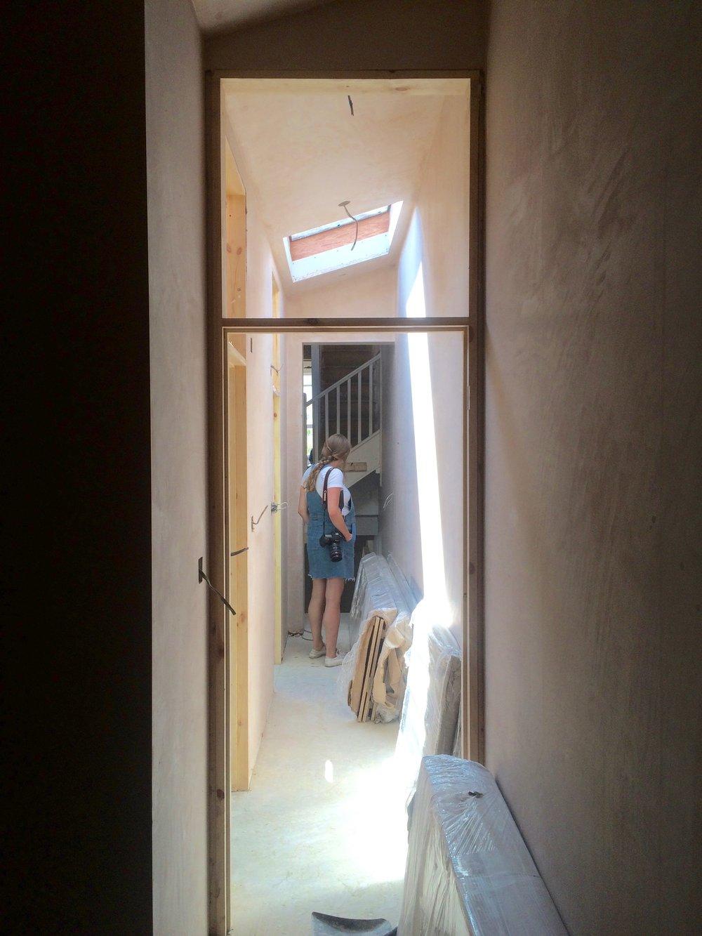 Over door lights and roof light underway