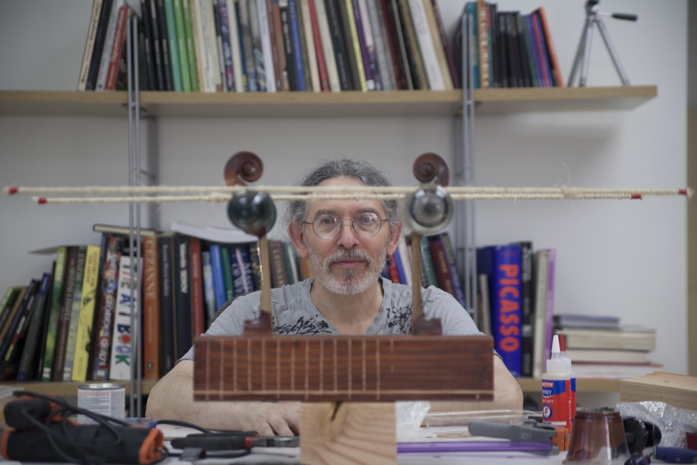 Genna Gurvich in his studio.