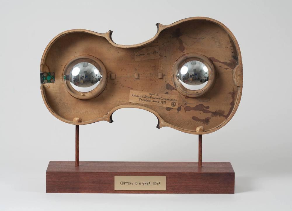 "Genna Gurvich, Copying is a great idea, 2014  Wood, Glass, Paper, Fiberglass,Metal,12""x 14""x 6"" Price $ 3,710"