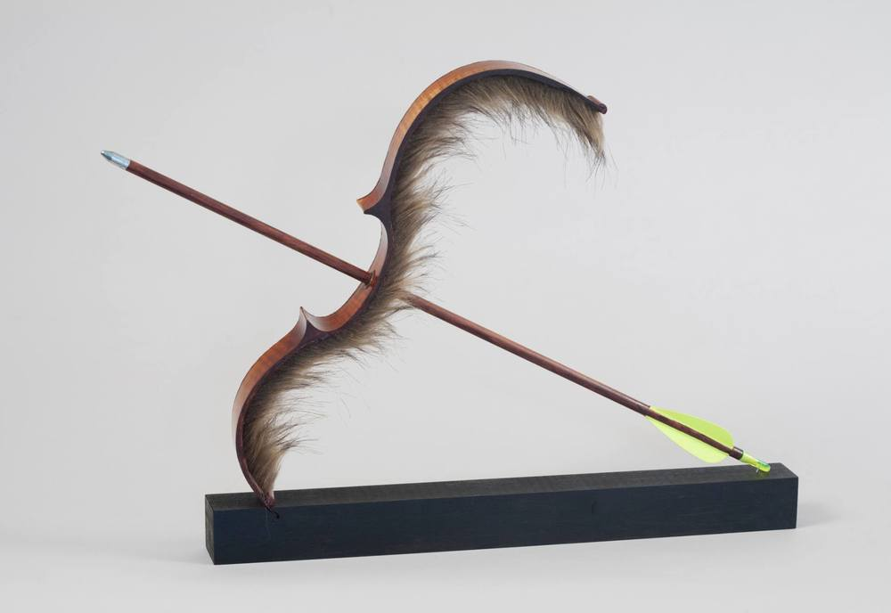 "Genna Gurvich, Surrogate Sound May Destroy, 2014 Wood and Artificial Fur, 14"" H x 20"" W x 2.5"" D Price $3,710"