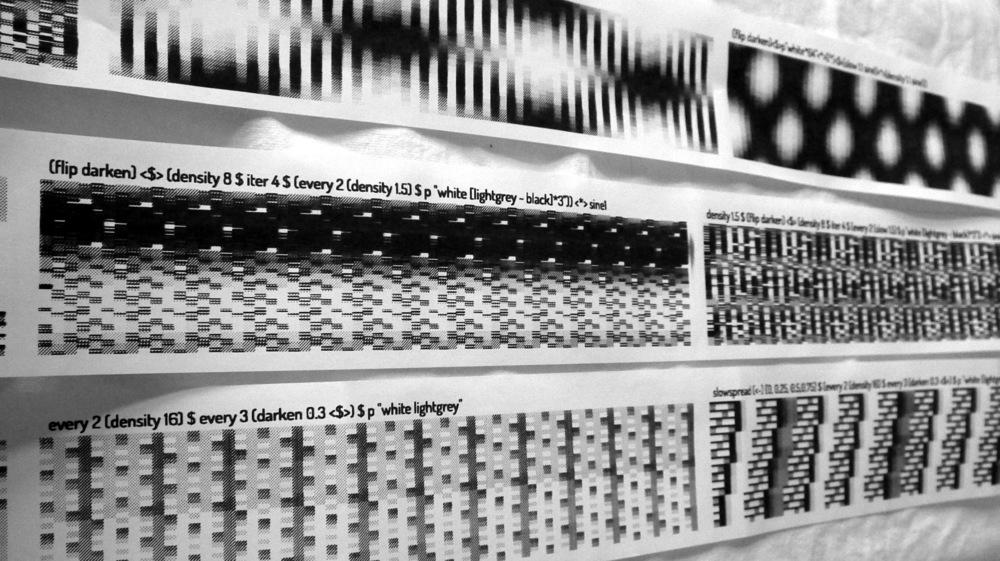 Printed pattern reels.
