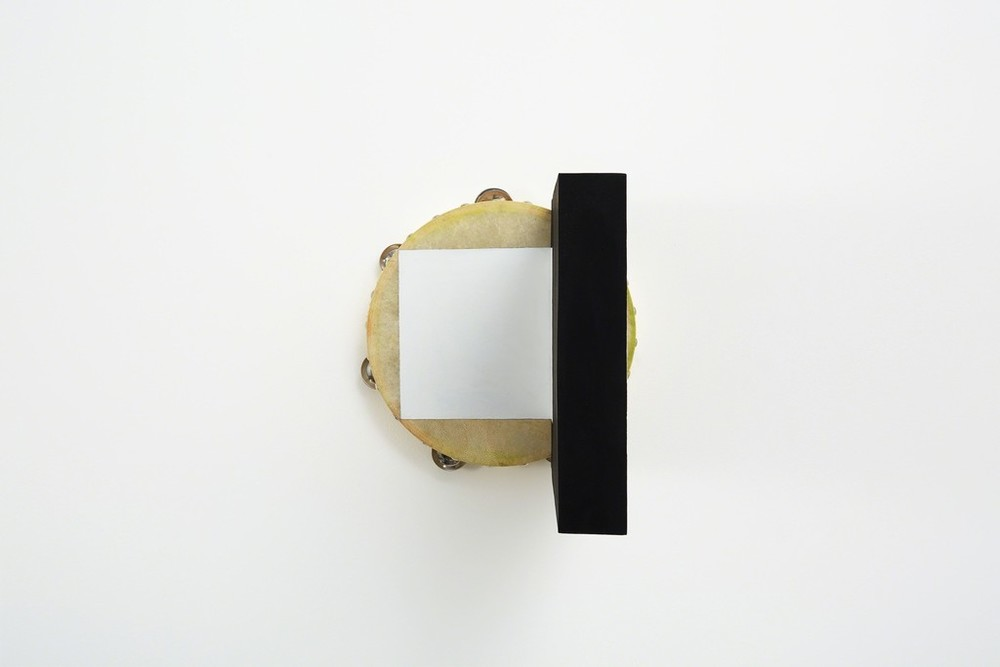 Matinee, Tambourine, 2015 acrylic, pastel, wood glue, birch plywood, screws 10 1/5 × 10 1/5 × 16 7/10 in 26 × 26 × 42.5 cm