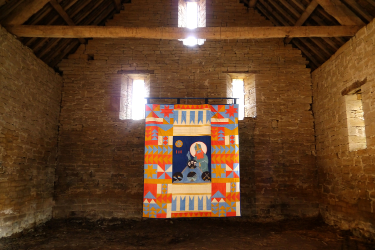 Stewart Easton, His Piety knows no bounds, 2015 Interactive quilt, 250cm x 200cm.