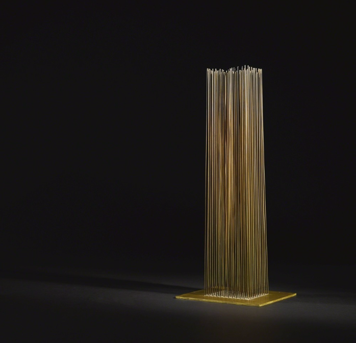 Untitled (Sonambient), circa 1970 Beryllium copper and brass 20 3/8 × 8 × 8 in 51.8 × 20.3 × 20.3 cm Estimated value: $20,000–$30,000