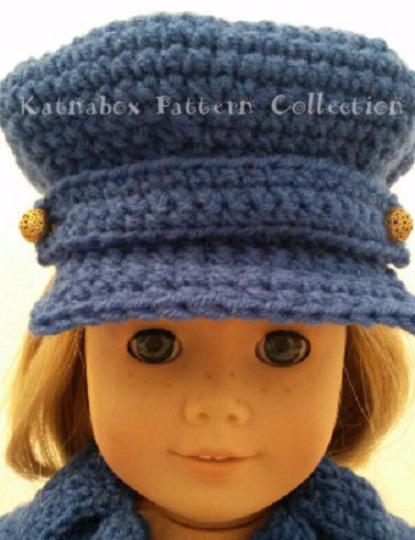 Crochet 18 Inch Doll Brimmed Hat Crochet Pattern Kc0636