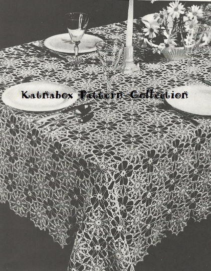 Crochet Spanish Infanta Tablecloth Pattern Kc0106 Intermediate