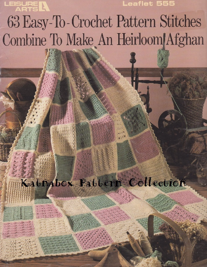 Crochet Sampler Afghan 63 Easy To Crochet Pattern Kc0263