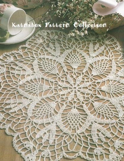 Crochet Cherokee Rose Doily Pattern Kc0341 Advanced Skill Level